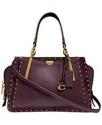COACH Border Rivets Mixed Leather Dreamer Satchel