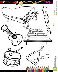 Xylophone Musical Instruments Coloring Pages For Kids Printable ...