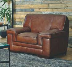 chestnut leather chair ving room furniture tosoni