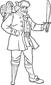Kids N Fun Kleurplaat Piraten Piraat Met Houten Been En Papagaai