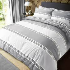 luxury banded stripe grey duvet set reversible quilt cover bedding double 261900 p5580 15315 image jpg