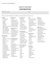 Sample Medical History Form Complete Health History Template Ninjaturtletechrepairsco 23