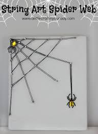 10/31 | DIY String Art Spider Web