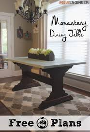 dining table woodworkers: step by step diy plans showing you exactly how to build a monastery dining table no woodworking experience required
