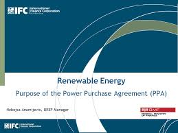 1 Renewable Energy Purpose Of The Power Purchase Agreement (Ppa ...
