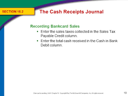 Cash Received Receipt Inspiration The Cash Receipts Journal Ppt Download