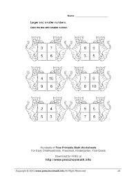 Free printable kindergarten and preschool math worksheets | Download ...