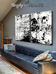 set of 2 abstract wall art canvas painting original painting contemporary art