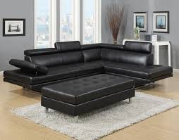 ibiza leather gel sectional and ottoman