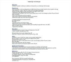 Radiologic Technologist Resume – Lifespanlearn.info