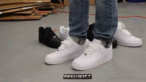 air force 1 low white white on feet at exclucity youtube af1 white