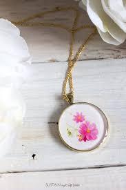 diy birth month flower pendants