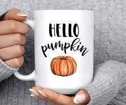 5% coupon applied at checkout save 5% with coupon. Amazon Com Coffee Mug Hello Pumpkin Autumn Mug Pumpkin Mug Fall Mug Good Morning Pumpkin Cute Mug Halloween Mug Home Kitchen