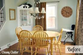 Adorable Dining Room And Dining Set Makeover Classy Clutter Awesome Paint Dining Room Table Property