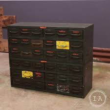Convert Cabinet To File Drawer Vintage Equipto Steel Cabinet 36 Drawers Modular Tool Box Chest