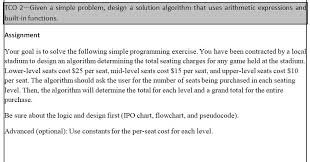 Solved Tco 2 Given A Simple Problem Design A Solution Al