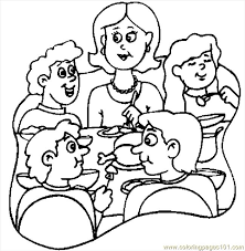 Small Picture Thanksgiving Dinner 6 Coloring Page Free Thanksgiving Day