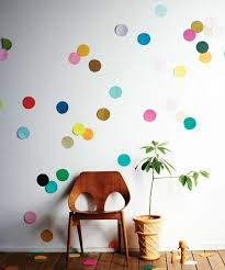wanddeko ideas paper colored circle wanddeko ideas bedroom