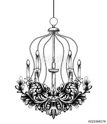 classic baroque chandelier vector french luxury rich intricate ornaments victorian royal style decors