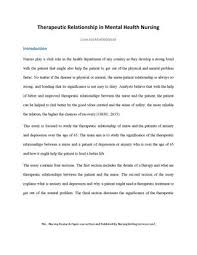 therapeutic relationship in mental health nursing by academic therapeutic relationship in mental health nursing code 10443400000166