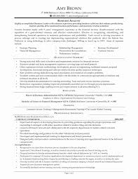 Application Support Analyst Sample Resume Beautiful Sas Analyst