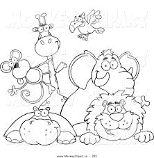 Terrific Zoo Animals Coloring Page Compromise To Color Simple