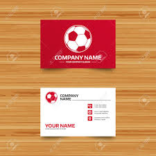 Soccer Business Card Business Card Template Football Ball Sign Icon Soccer Sport