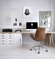 basement office setup 3. Desk Setup Basement Office 3