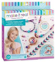 make it real floating charm locket blooming creativity diy locket pendant and charms jewelry making kit for girls guides tweens to design craft a