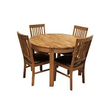 Round Kitchen Table For 4 Glasswells Royale Round Dining Table And 4 Bicast Leather Dining