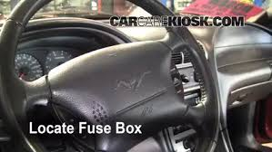 interior fuse box location ford mustang ford interior fuse box location 1990 1993 ford mustang 1991 ford mustang gt 5 0l v8 convertible