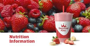 Smoothie King Nutrition Chart Smoothie King Nutrition Info Smoothie King