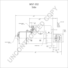 ms7 302 starter motor product details prestolite leece neville ms7 302 side dim drawing