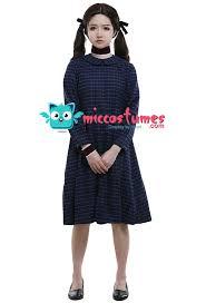 cosplay costume blue plaid dress