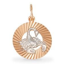 """<b>Подвеска</b> """"<b>Скорпион</b>"""", золото, <b>SOKOLOV</b>, 031372"""