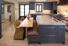 kitchen island with bench seating. Mass Avenue Heights Mediterranean-kitchen Kitchen Island With Bench Seating