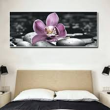 superb bedroom canvas art large canvas wall art painting orchid and black stone prints canvas artwork on canvas wall art bedroom with superb bedroom canvas art carajium