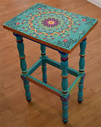 colorful painted furniture.  Painted Wonderful Furniture Hand Painted Solid Wood Accent Table Size 17 X By  SunSoulCreations Inside P  Colorful I