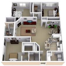 two bedroom apartment layout