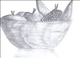 fruit bowl drawing with shading. Delighful Drawing Fruit Bowl And Bowl Drawing With Shading R