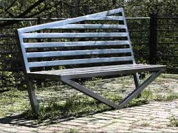 Outdoor Metal Benches  OutdoorlivingdecorGarden Metal Bench