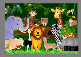 Foto Behang Jungle Safari Fts1307