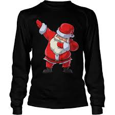 dabb dance. santa claus dabbing christmas funny dab dance gifts longsleeve tee dabb