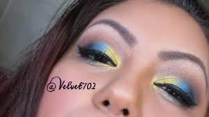 yellow blue makeup tutorial you