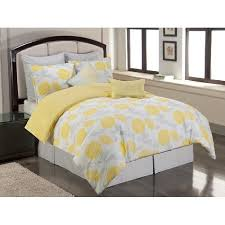 sunset and vine briar cliff 8 piece comforter set yellow grey