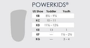 Toddler Girl Size Chart Powerkids 3 4 Pediatric Orthotics