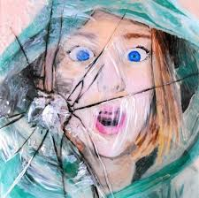 shatter face acrylic paint on plexiglass