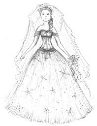 Small Picture wedding dresses coloring pages