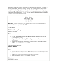 Cover Letter Sample Kitchen Assistant Resume Kitchen Assistant