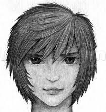 eyebrow shading drawing. how to draw anime hair in pencil eyebrow shading drawing